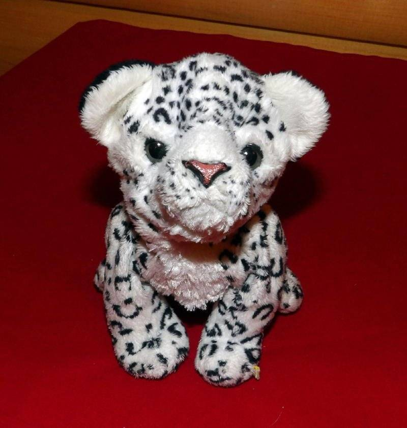 "Primary image for FurReal Friends Hasbro Plush 8"" Sound & Action White & Black Newborn Leopard Cub"