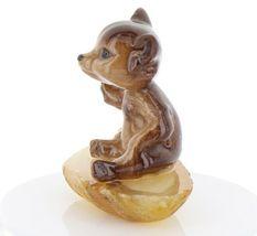 Hagen Renaker Miniature Baby Bear Cub Sitting on Base Stepping Stones #2762 image 4