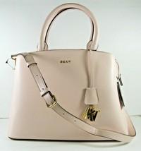 Dkny NEW $248 Large Crossbody Shoulder Hand Bag Blush Pink Zip Closure T... - $98.21