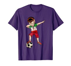 Dad Shirts - Dabbing Soccer Boy Iran Jersey Shirt - Football Tee Gift Men - $19.95+