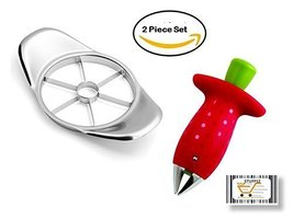 2pack  Fruit cutter Tomato & Strawberry Huller (Corer + Stem Remover) - $6.75