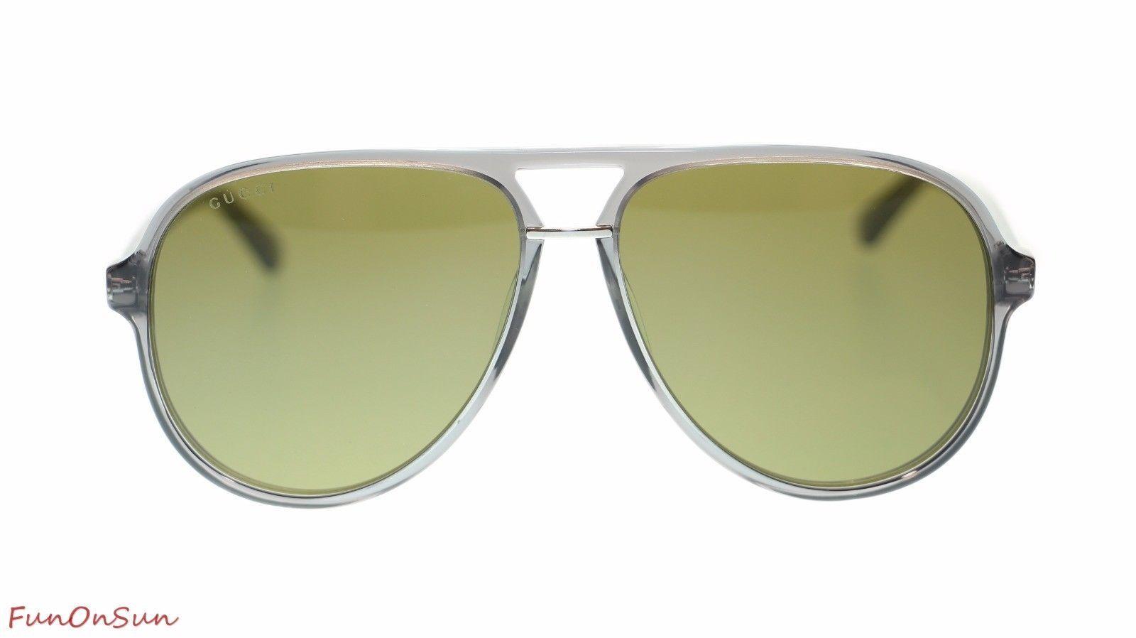 7908cc6b6b Gucci Men s Aviator Sunglasses GG0015S 005 and 11 similar items. 57