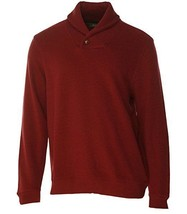 Tasso Elba Men's Red Velvet Shawl Collar French Rib Pullover Sweater - $489,26 MXN