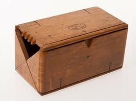 FREE SHIP: Vintage Oak Box - Unfolding Velvet Lined Tool Container-Paten... - $35.06
