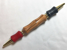 Teacher or editor pen with black and red ink, Bethlehem Olive wood Handmade - $25.74