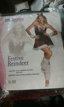 NEW Festive Reindeer Christmas Dress Adult Santa Helper Holiday Costume x-small - $32.18