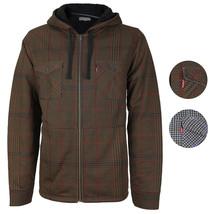 Levi's Men's Soft Sherpa Lined Long Sleeve Flannel Zip Up Hoodie Sweater Jacket