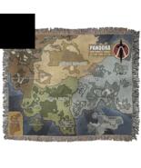 "Borderlands Pandora Map Woven Blanket Throw - 100% Cotton 50"" x 60"" - $174.99"