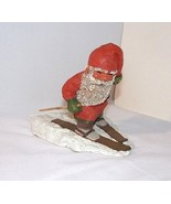 Klaus Wickl SANDMAN Vtg Gnome Skiing Resin Figure 1994 Skis Wood Poles E... - $24.70