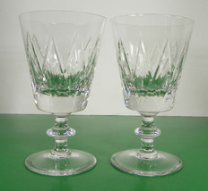 Vintage Val St. Lambert STATE OXFORD Signed Crystal Water Goblet (s) LOT... - $43.51