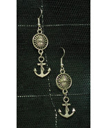 Rockabilly Anchor Dangly Sun Spacer Earrings made with Nickel Free hooks - $5.40