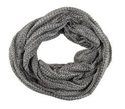 Infinity Scarf Lightweight Circle Loop 2 Tone Plaid Unisex Woman - Charcoal - $13.04 CAD