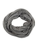 Infinity Scarf Lightweight Circle Loop 2 Tone Plaid Unisex Woman - Charcoal - $4.94