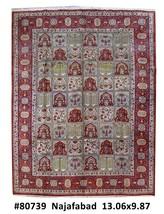Handmade Rug 10x13 Persian Isfahan Carpet - $1,799.01
