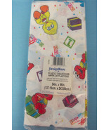 Sesame Street You're 1 Birthday Party Tablecover Tablecloth White Yellow... - $13.95