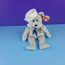 TY Beanie Baby Ronnie Ronald Reagan Sailor Bear Navy Teddy 2003 - $11.88