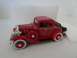 """RED R.F.D. VTG FIRE CHIEF CAR 1932 CONFEDERATE SERIES 5.25""""L IN FOAM CAR... - $9.75"""