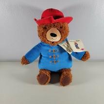 """Paddington Bear Plush Teddy Bear Blue Red Hat 2016 With Tags 14"""" - $20.99"""