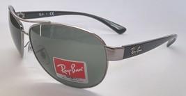 Ray-Ban Sunglasses AVIATOR 3386 004/71 GUNMETAL BLACK GREEN NEW & 100% O... - $104.98