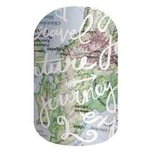 Jamberry Nail Wrap~Wanderlust~Half Sheet - $9.89