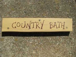 Wood Block M9004CB Country Bath  - $5.95