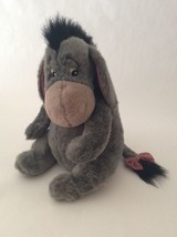 "Disney Store Winnie The Pooh Gray Pink Eeyore W/ Detachable Tail 16"" Large Plush - $18.69"