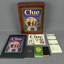 Clue Vintage Game Collection Wooden Box Bookshelf Edition Board Game Com... - £17.29 GBP