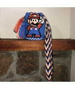 Authentic 100% Wayuu Mochila Colombian Bag Mini Size Special Super Mario... - $40.00