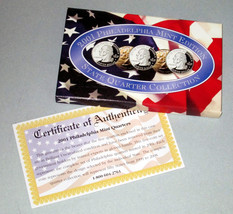 2001 Philadelphia Mint Edition State Quarter Collection - NY, RI, VT, NC, KY - $12.55
