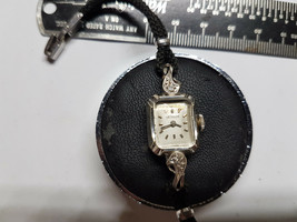 VINTAGE 14KT WHITE GOLD CASE LE COULTRE LADIES WATCH FOR YOU TO REPAIR O... - $265.50