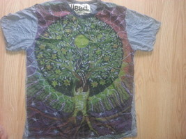Men T Shirt short sleeve Tree of Life Zen Peace Love Earth OM hippie M WEED NEW - $12.86
