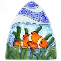 Fused Art Glass Clown Fish Ocean Marine Nightlight Night Light Handmade Ecuador image 2
