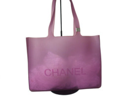 Authentic CHANEL Purple Rubber Tote Bag CT10861L - $195.00