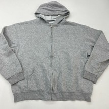 Fruit of The Loom Zip Up Hooded Jacket Men's XL Long Sleeve Gray Cotton Blend - $17.99