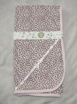 Little Me Baby Girls Newborn Tag Along Blanket White/Pink/Cream/Brown Leopard - $32.66