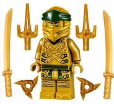 Minifigure Figure Gold Lego Ninjago Golden Ninja Lloyd Legacy Minifig 70666 - $19.00