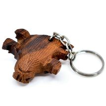 Hand Carved Ironwood Wood Folk Art Country Western 3D Horned Toad Keychain image 5