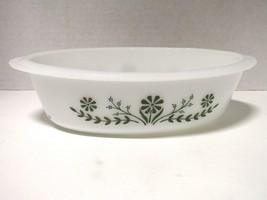 Vintage Glasbake Crazy Daisy Milk Glass 1 Qt Casserole Baking Dish One Q... - $15.84