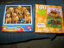 4 puzzles: 100-700 pc golden lab jigsaw puzzles/ yellow lab   Leap Year/... - $5.99