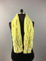 Yellow Rex Rabbit Fur Scarf collar - $40.00