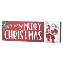 Darice Merry Christmas Tabletop Sign: 9 x 2.95 inches w - $7.99