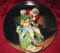 <><  Sundblom Santa Series 1990 collector plate Christmas Vigil Knowles ... - $9.74