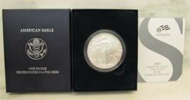 2007-W BU American Silver Eagle in OGP w/ Papers AJ949 - $43.44