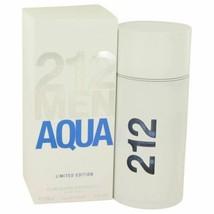 Cologne 212 Aqua by Carolina Herrera Eau De Toilette Spray 3.4 oz for Men - $77.02