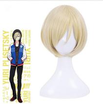Yuri!!! on Ice Cosplay Wig Yuri Plisetsky Hair Short Blonde Wigs - $15.99