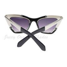 Retro Designer Sunglasses Trapezoid Cateye Runway Fashion Shades image 11