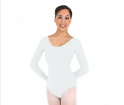 Body Wrappers BWC326 White Women's Medium (Fits Size Small) Long Sleeve Leotard - $15.83