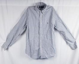 Ralph Lauren Mens Polo Blue/White Check Plaid Button Down Size Large - $14.96