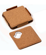 Bey-Berk Set of 4 Coasters with Bottle Opener made out of Cork - $26.95