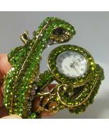Ficaro Lizard Rhinestone Watch Cuff Bracelet - $22.76